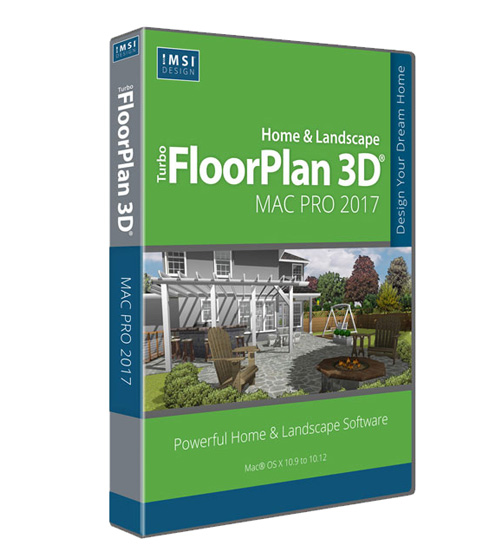 TurboFloorPlan Home and Landscape Mac Pro 2017