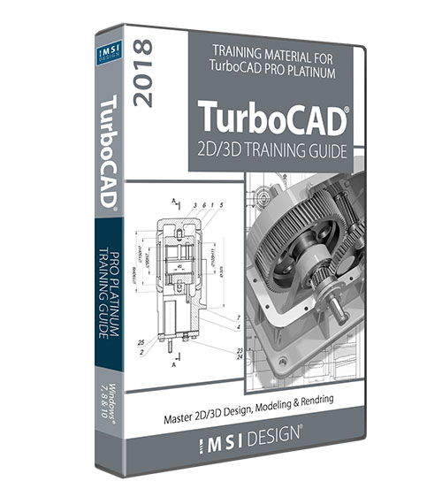 2D/3D Training Guide Bundle TurboCAD 2018 Pro Platinum
