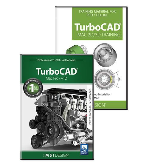 TurboCAD Mac Pro V11 and Training Bundle