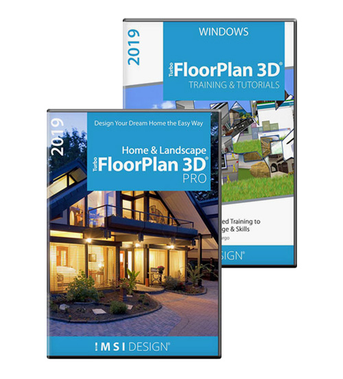 TurboFloorPlan Pro 2019 & Training Bundle - Windows Version
