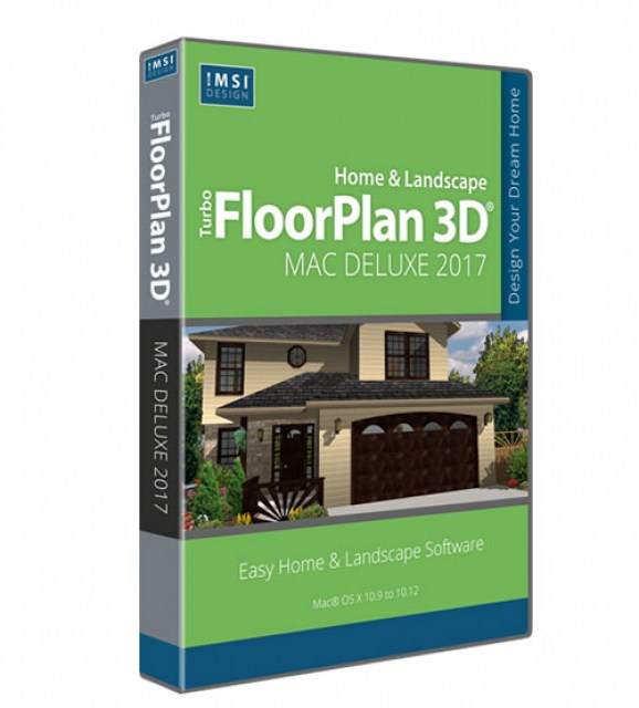 TurboFloorPlan Home and Landscape Deluxe Mac 2017