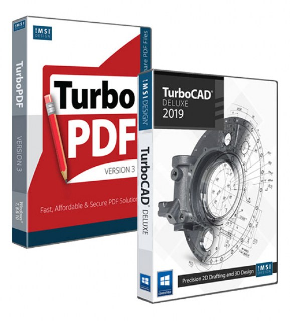 TurboCAD 2019 Deluxe and TurboPDF v3 Bundle