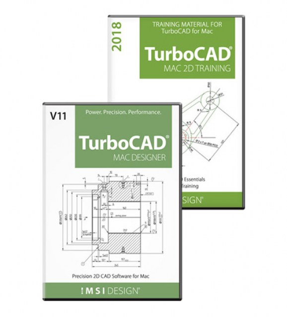 TurboCAD Mac Designer 2D v11 and Training Bundle