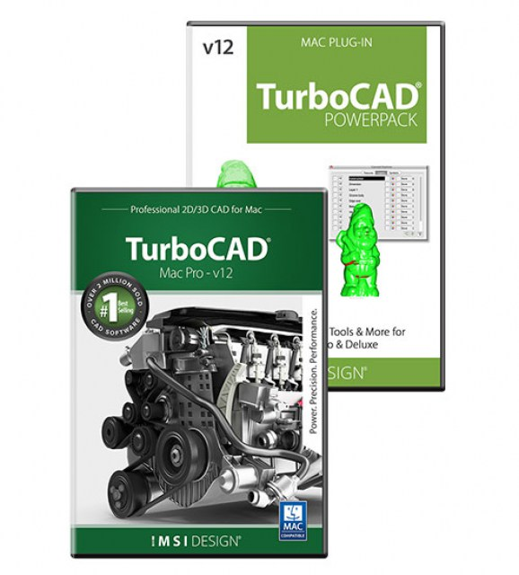 TurboCAD Mac Pro v12and PowerPack Bundle